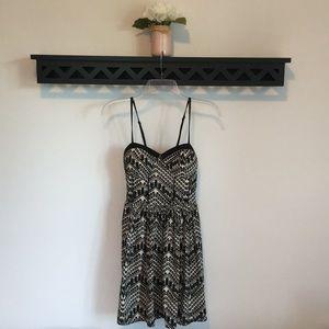 XS American Rag spaghetti strap dress B&W